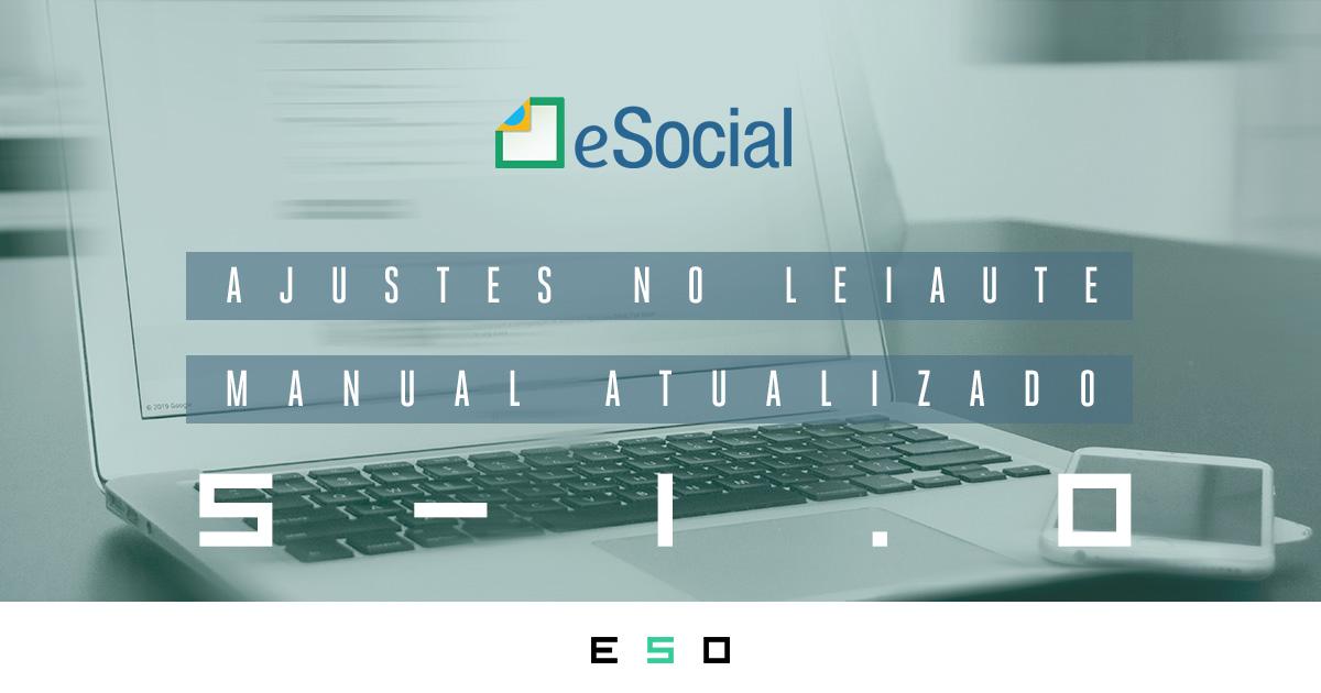 eSocial S-1.0: Leiaute e Manual de Orientação atualizado