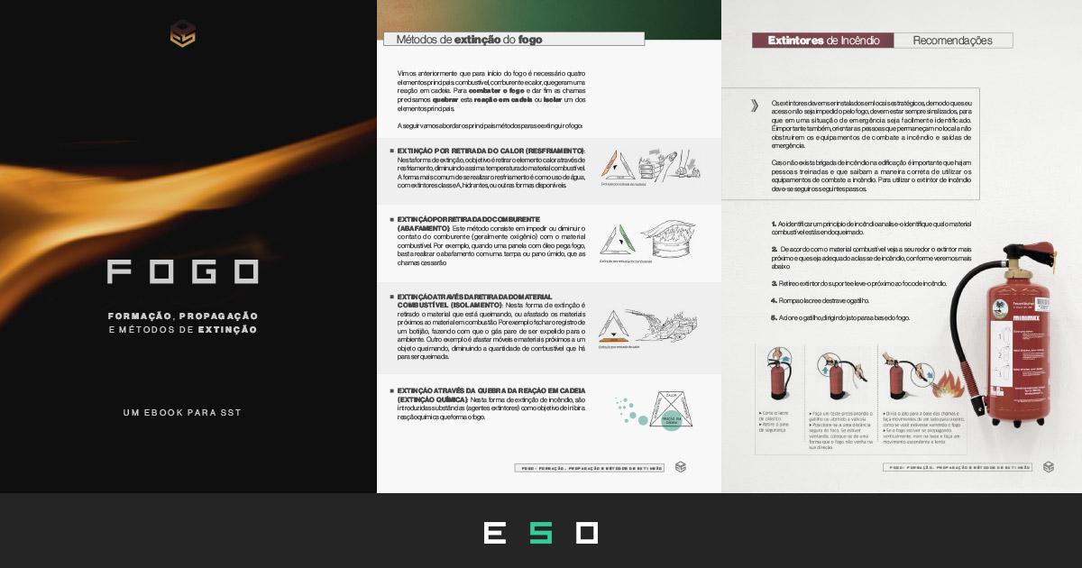 Baixar Gratuitamente - eBook SST: Fogo - Formação, Propagação e Métodos de Extinção
