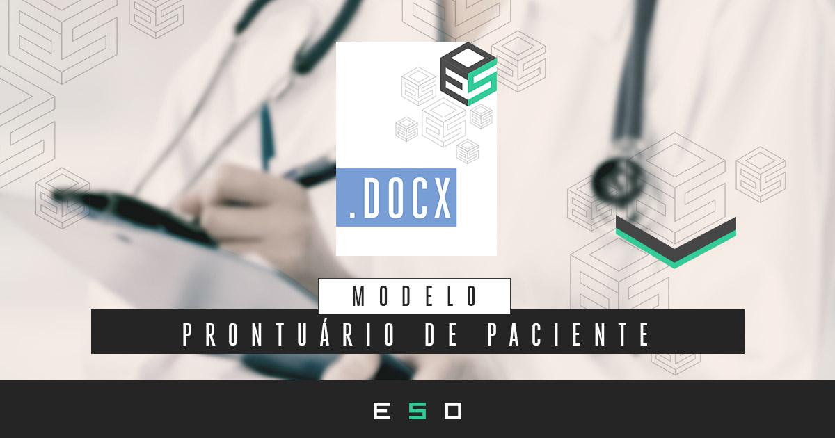 Baixar Gratuitamente - Modelo de Prontuário de Paciente
